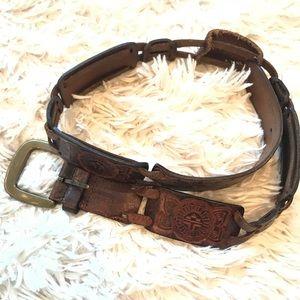 Fossil western leather belt - medium